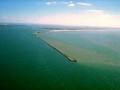 Vista aérea dos Molhes da Barra