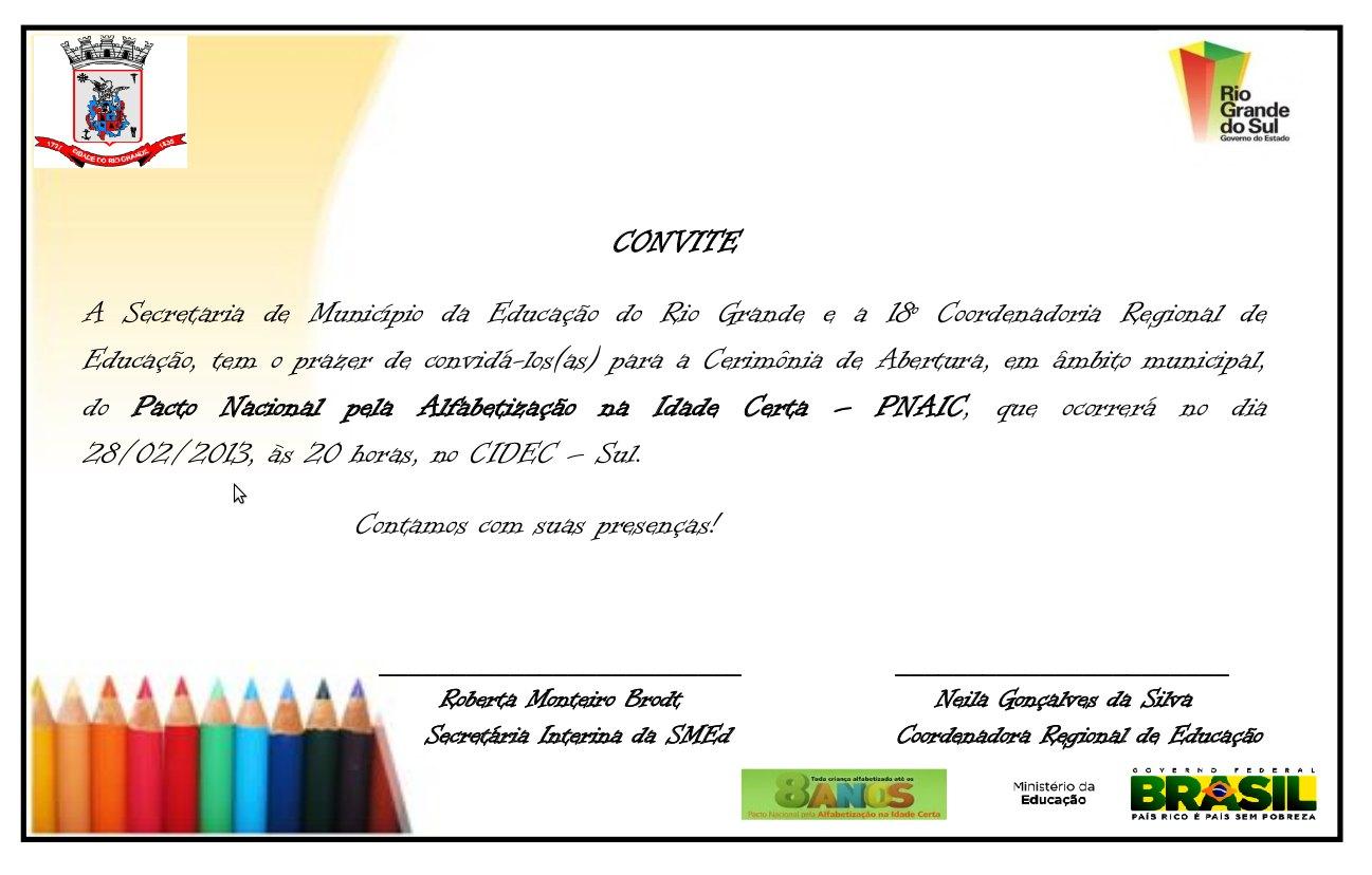 Cerimônia De Abertura Do Pacto Nacional Pela Alfabetização