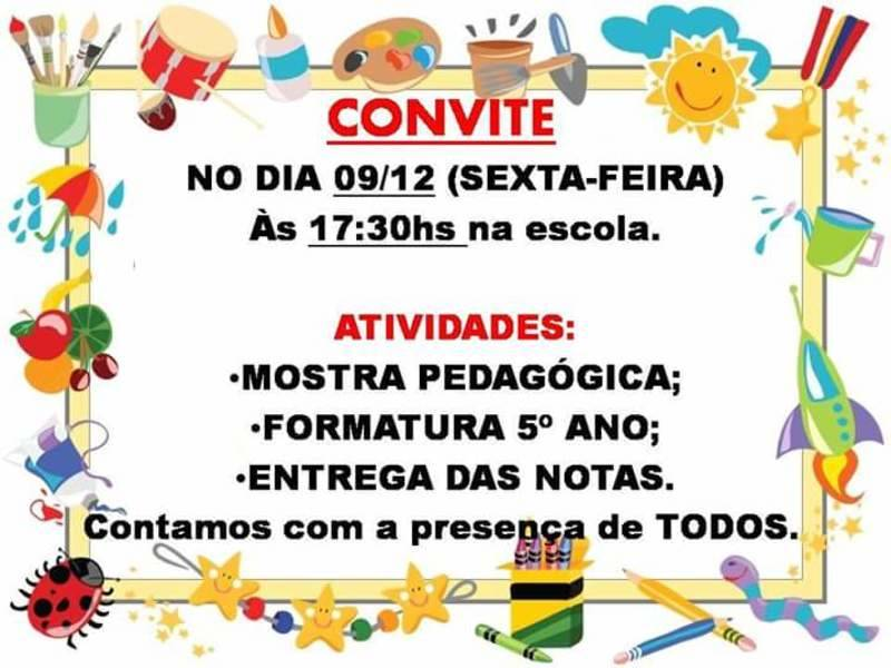 Emef Roque Aíta Jr Realizará Mostra Pedagógica No Dia 09