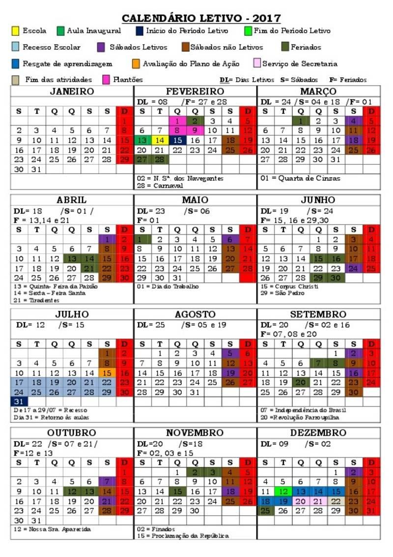 Calendario Julho 2018