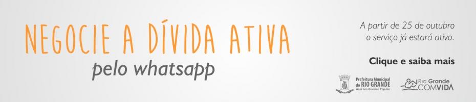 Secretaria da Fazenda irá negociar débitos inscritos em Divida Ativa pelo Whats App