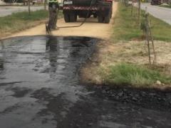 Ciclovia que liga o Cassino ao Bolaxa está recebendo pavimentação asfáltica